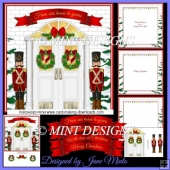 NUTCRACKER CHRISTMAS DOOR KIT