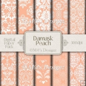 Damask in Peach Paper Pack CU4CU