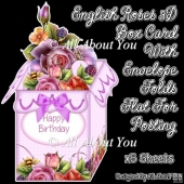 English Roses 3D Box Card Kit