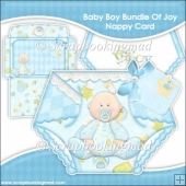 Baby Boy Bundle Of Joy Nappy Card