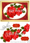pretty red roses with bow A5