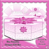 Pink Ponsettia Octogon Gift Box