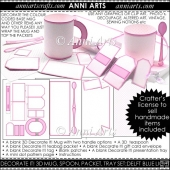 Decorate It! Blank 3D Mug Sets: Pink