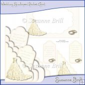 Wedding Scalloped Pocket Card