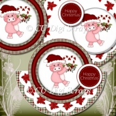 Piggin Christmas Rocker Card