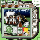 FOOTBALL BEER 6 PACK HIT THE BAR 7.5 Decoupage & Insert Mini Kit