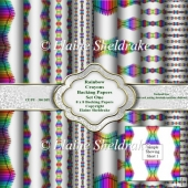 "Rainbow Crayons Set One 8"" x 8"" Backing Papers"