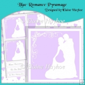 Lilac Romance Pyramage with Hearts Backing Paper