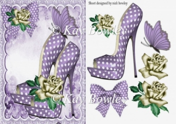 pretty lilac polkadot shoes with roses and lace 8x8