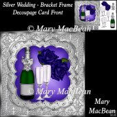 Silver Wedding - Bracket Frame Decoupage Card Front