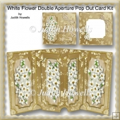 White Flower Double aperture Pop Out Card Kit