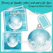 Frosty 3d Tree Bauble With Matching Card and Gift Box