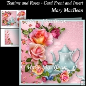 Teatime and Roses - Card Front and Insert