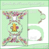 Butterfly And Flowers Scalloped Gatefold Card