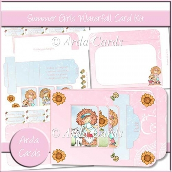 Summer Girls Waterfall Card Kit