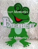 Birthday Frog Card, SVG, MTC, SCAL, ScanNCut