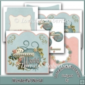 Wonderful World Shaped Top Decoupage