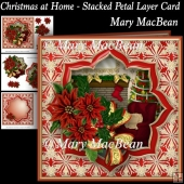 Christmas at Home - Stacked Petal Layer Card