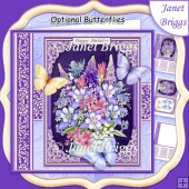 WILD FLOWERS & BUTTERFLIES All Occasions Quick Card & Insert Kit