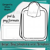 Large Tag Shaped Card Template