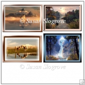 4 Quick Cards of Early Morning Scenes