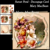 Sunset Pond - Decoupage Card