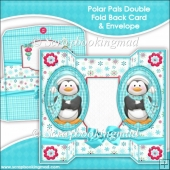 Polar Pals Oval Double Foldback Card