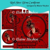 Red Shoe Diva Cardfront