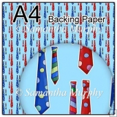 ref1_bp327 - Blue Mens Tie Fathers Day