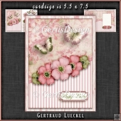 Vintage Dream soft colors flowers pink green 1105