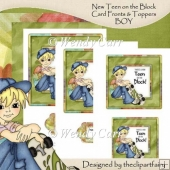 Teen on the Block Square Frame Card Fronts BOY(Retiring in July)