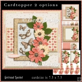 Flowery Topper Card Kit peach creme