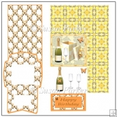 Present and Champagne Easel Card