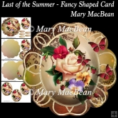 Last of the Summer - Fancy Shaped Card