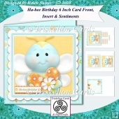 Ha-Bee Birthday 6 Inch Card Front with Insert & Extra Sentiments