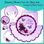 Fantasy Floral Over the Top Card