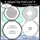 Shaped Top Fold Card Template