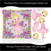 Dancing Flower Girl Topper with Decoupage