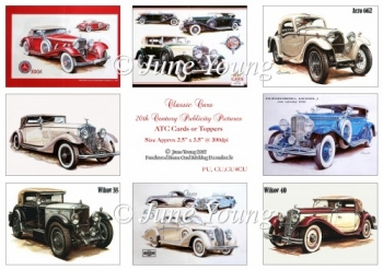 Toppers or ATC Cards - Classic Cars