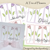 Ready to Print Cards - A Trio of Flowers(Retiring in July)