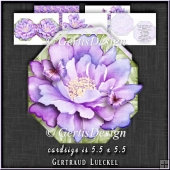 Flower Shaped Card Kit 1339
