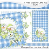 Frilled Square Card Kit 5(Retiring in August)