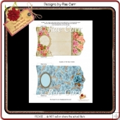 PS125 Set of Floral Feminine Gift Card Wallets