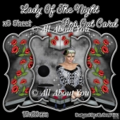 Lady Of The Night Pop Out Card & Envelope Set