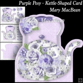 Purple Posy - Kettle-Shaped Card