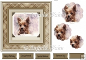 Terrier dog 7x7 card
