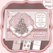 ROBIN & CHRISTMAS TREE Christmas A5 Pyramage & Insert Kit