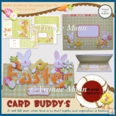 Easter Greetings Decoupage Over The Top Card Kit