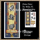 Medieval Knight Fathers Day DL Decoupage Card Design