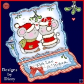 A Sweet Christmas Kiss Easel Card